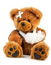 Teddy mit Verwundungen