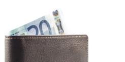 Brieftasche mit Geldschein
